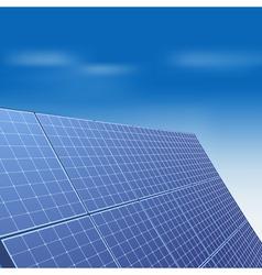 Solar panel against blue sky vector