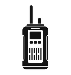 Survival walkie talkie icon simple style vector