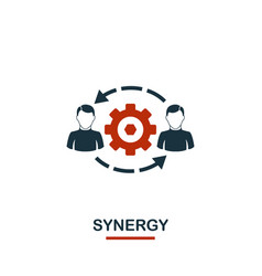 synergy icon premium style design from teamwork vector image