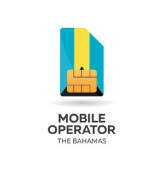 The bahamas mobile operator sim card with flag vector