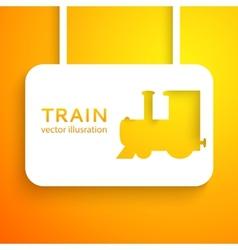 Train applique background vector