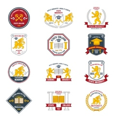 University Labels Colored vector image