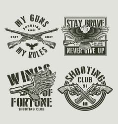 Vintage military labels vector