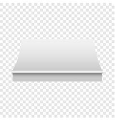 white awning mockup realistic style vector image