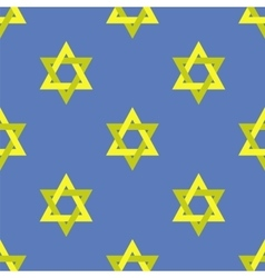 Yellow Star of David Seamless Pattern vector