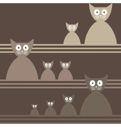 Cats Abstract seamless background Template for vector image vector image