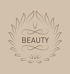 Floral logo template for Beauty salon Spa center vector image