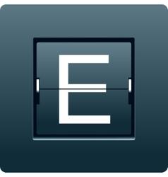 Letter e from mechanical scoreboard vector