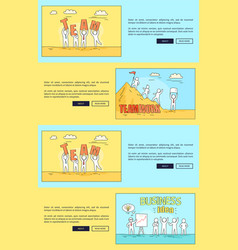 teamwork and business idea web vector image vector image