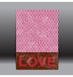 valentines day paper classic Red heart vector image