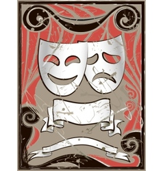 vintage theater masks vector image vector image