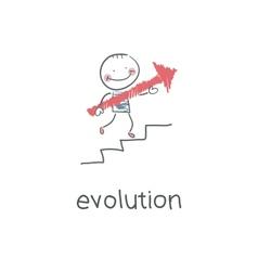 Evolution career vector image vector image
