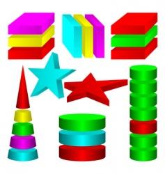 multicolored figures vector image vector image