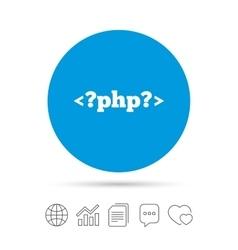 Php sign icon programming language symbol vector