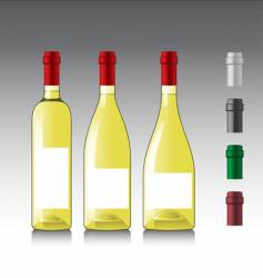 white wine bottles vector image