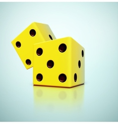 Yellow Dices vector image