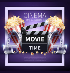 Cinema poster online movies and vector