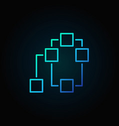 decentralization or blockchain blue icon vector image vector image