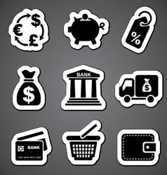 finance sticker label vector image vector image