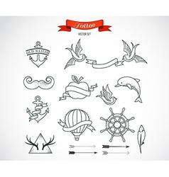 Set of modern Tattoo Art vector image