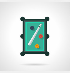 snooker table flat color icon vector image vector image