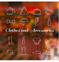woman accessories icons set lineart vector image vector image
