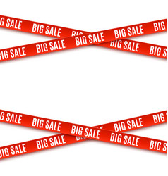 big sale red banners ribbons isolated on white vector image vector image