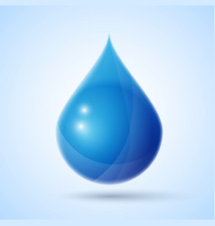 Blue water drop vector image