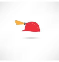 helmet with a flashlight vector image