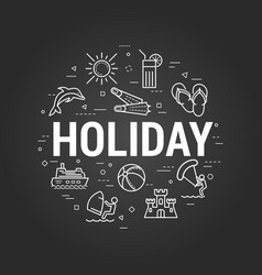 holiday at summer on black vector image vector image