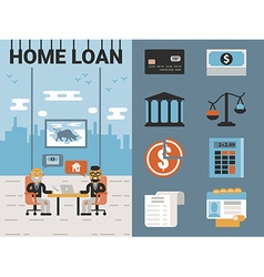 Home Loan vector image