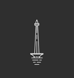 indonesia landmark in outline style vector image