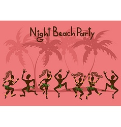 Invitation to a beach party vector image