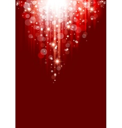 Red Christmas Abstraction vector image vector image