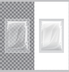 set of blank template packaging foil wet wipes vector image