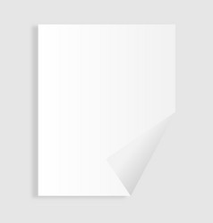 single paper page with folding corner vector image vector image