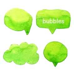 Speak bubbles watercolor set vector