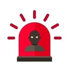 Thief alert vector image vector image