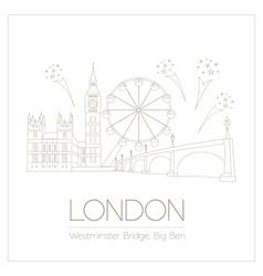 World landmarks london united kingdomwestminster vector