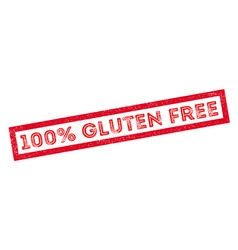100 percent gluten free rubber stamp vector