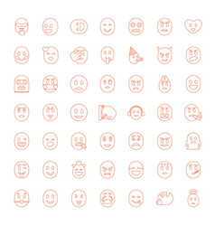 49 smiley icons vector