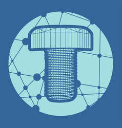 abstract wireframe style bolt vector image