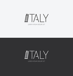 alphabet italy design concept with flat sign vector image
