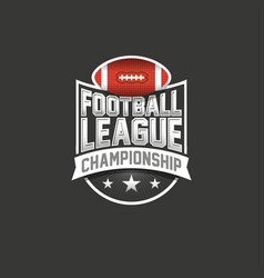 american football league logo sport emblem vector image