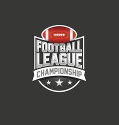 American football league logo sport emblem vector