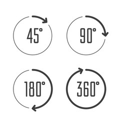 angle degrees circle icons vector image