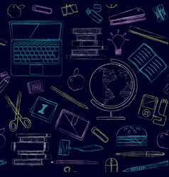 back to school seamless pattern good for vector image