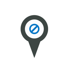 Ban deny location marker pin place point icon vector