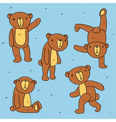 Bear toy set vector image vector image