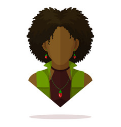 Black women avatar vector